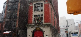 The Ghostbusters Firehouse Dressed For Christmas