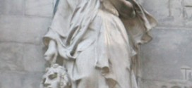 Is That A Woman Holding A Decapitated Head on the New York Public Library?