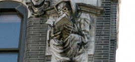 The Creepy Book-Reading Gargoyle at West 181st Street