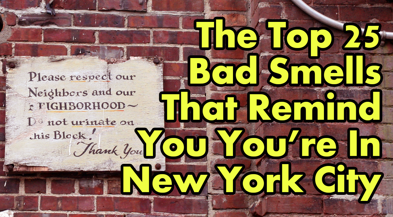 The Top 25 Bad Smells That Remind You You're In New York